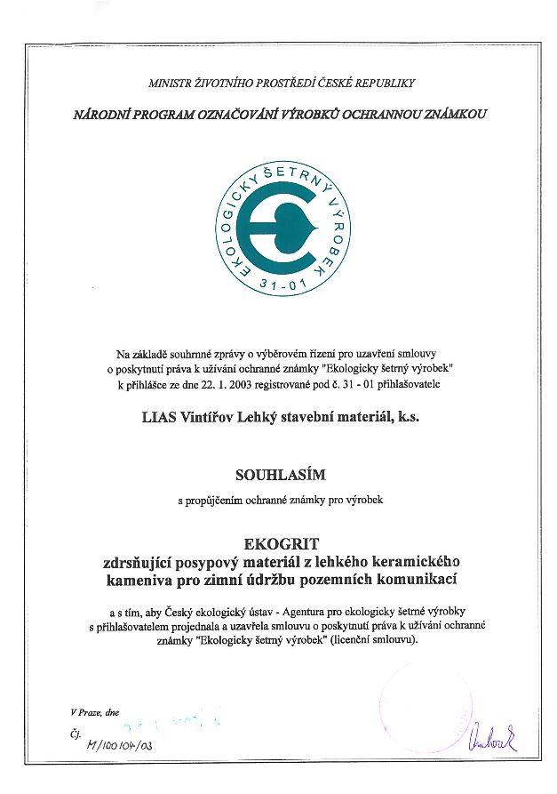 Ochranná známka EKOGRIT